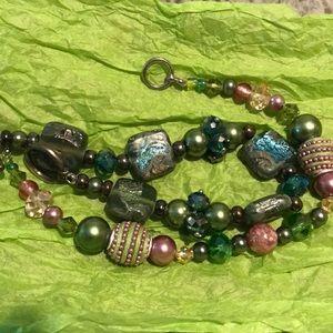 2 beaded bracelets